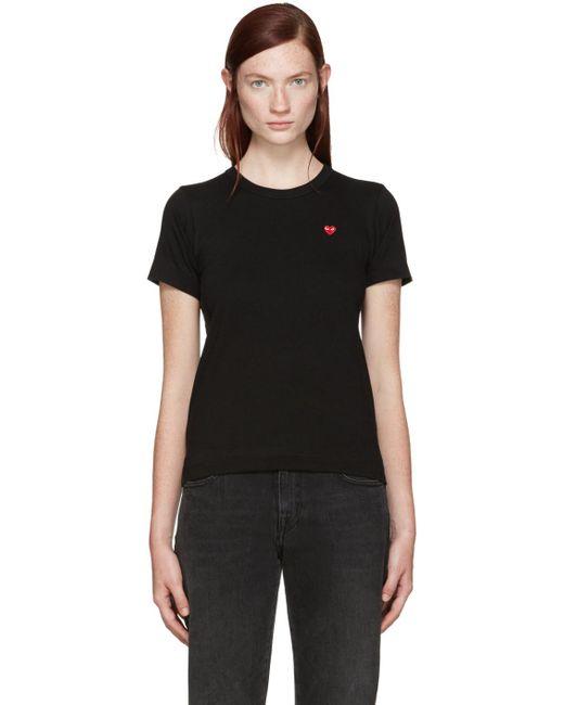 Play Comme des Garçons | Black Small Heart T-shirt | Lyst