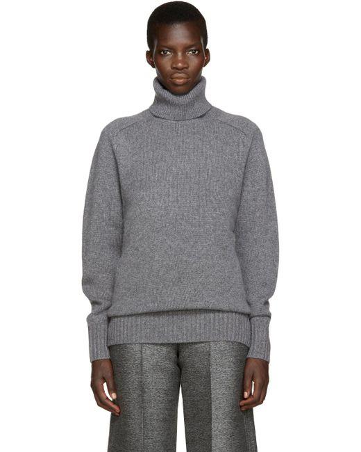 Chloé   Gray Oversized Cashmere-blend Sweater   Lyst