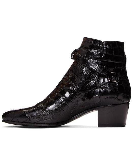 Saint Laurent Women S Blake Leather Jodhpur Boots Save