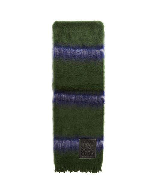 Loewe - Green And Blue Stripes Blanket for Men - Lyst