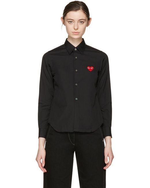 Play Comme des Garçons | Black Heart Patch Shirt | Lyst
