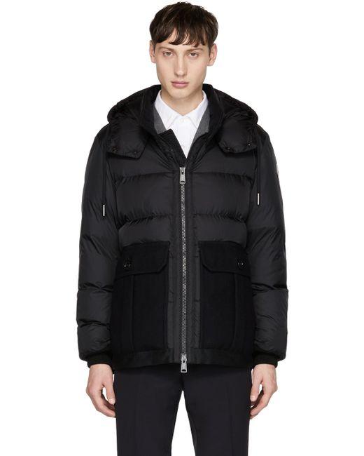 Moncler | Black Down Vitoux Jacket for Men | Lyst