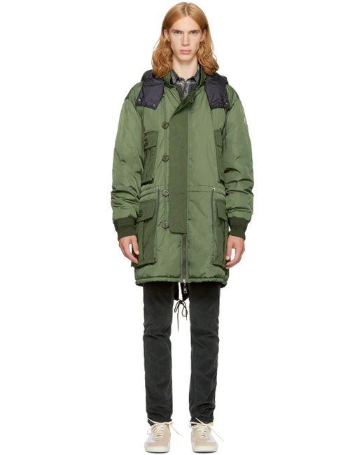 Moncler | Green Down Gabriel Jacket for Men | Lyst