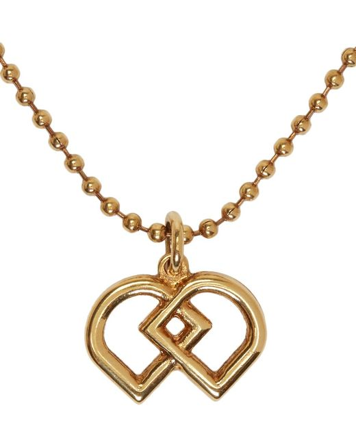 DSquared² | Multicolor Brass Ball Chain Logo Necklace for Men | Lyst