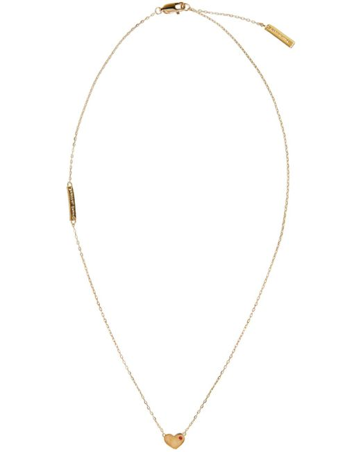 Marc Jacobs | Metallic Gold Heart Something Special Necklace | Lyst