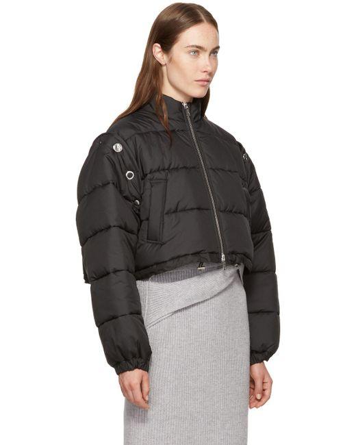 3 1 Phillip Lim Black Cropped Puffer Ski Coat In Black Lyst