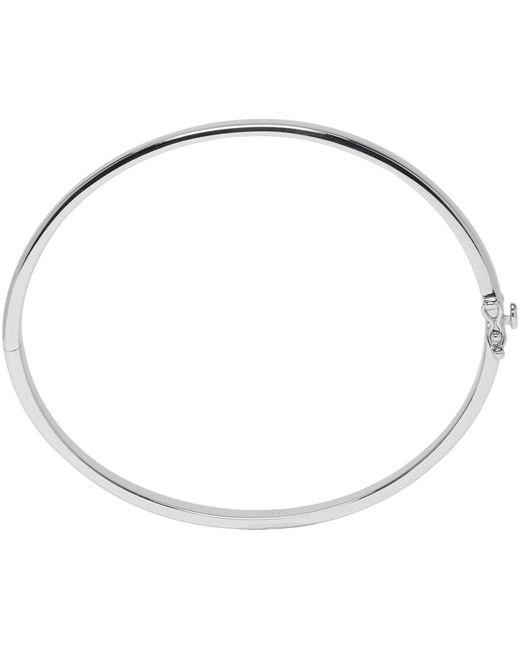 Tom Wood | Metallic Silver Slim Lock Bangle for Men | Lyst