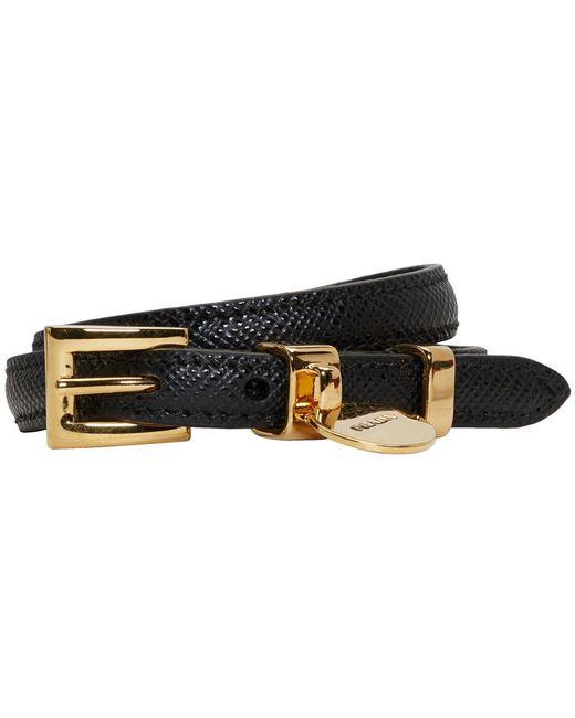 Prada   Black Saffiano Double Wrap Bracelet   Lyst