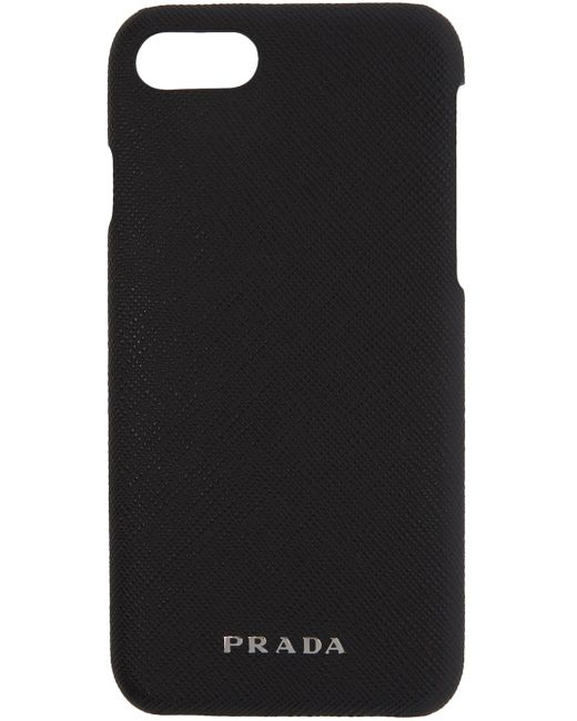 Prada | Black Saffiano Iphone 7 Case | Lyst