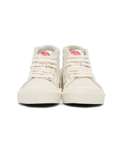 3ab8a955b4 ... Vans - Natural Beige And Off-white Og Sk8-hi Lx Sneakers - Lyst ...