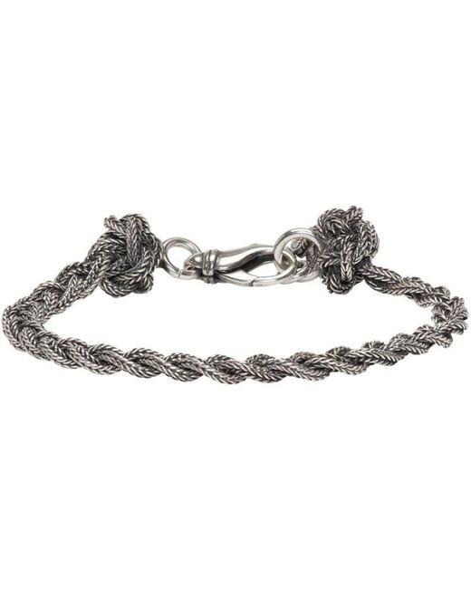 Emanuele Bicocchi   Metallic Silver Braided Knots Bracelet   Lyst