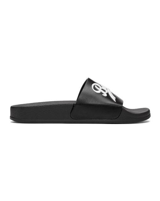 Balmain - Black Calypso Slides - Lyst
