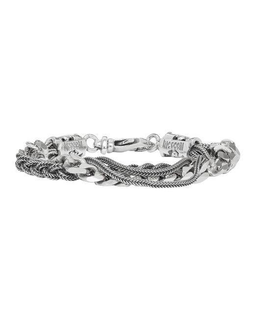 Emanuele Bicocchi - Metallic Silver Braid Chain Bracelet for Men - Lyst