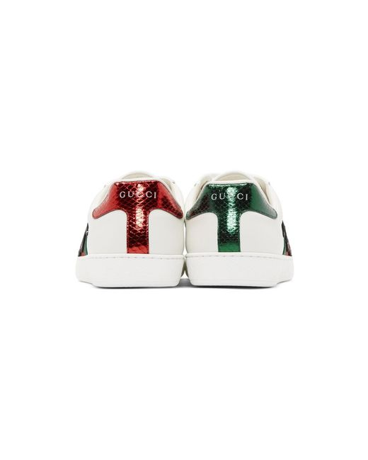 fcc10bd1b5d Lyst - Gucci White Dragon Ace Sneakers in White for Men - Save 19%
