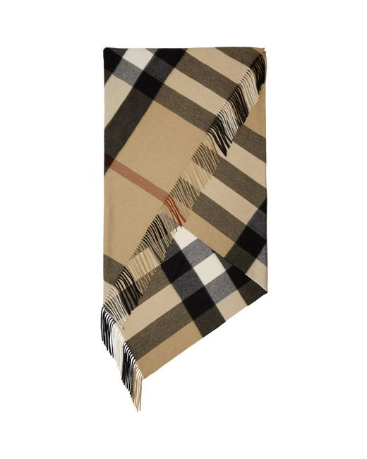 Burberry - Tan And Black Mega Check Blanket - Lyst