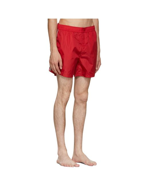 94325ef14 Moncler Red Dolmias Beach Swim Shorts in Red for Men - Lyst