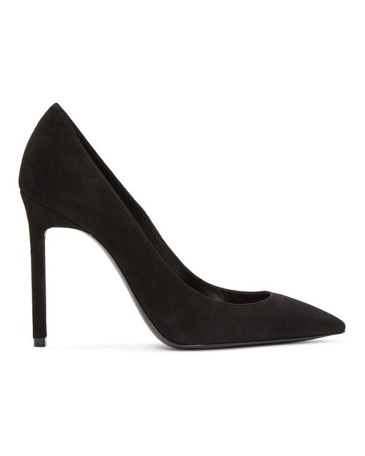 Black Suede Anja Pumps Saint Laurent SqjBLc1dx