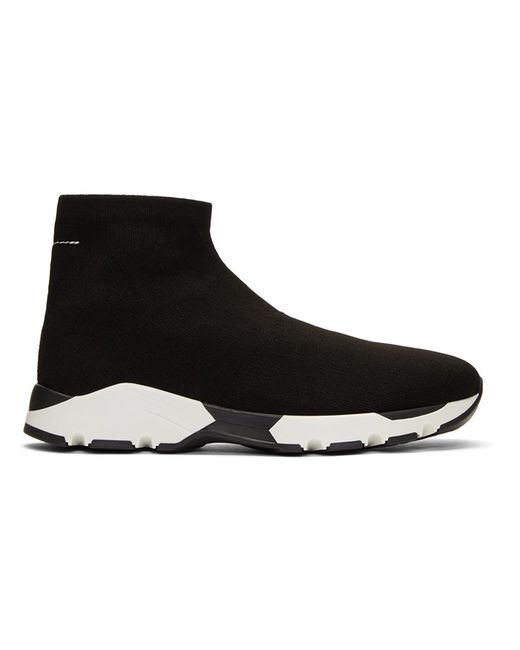 MM6 by Maison Martin Margiela - Black Sock Sneakers for Men - Lyst