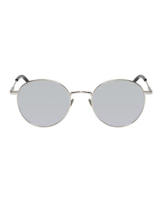 fb54c57b5a6e Saint Laurent - Metallic Silver Sl 250 Sunglasses for Men - Lyst ...