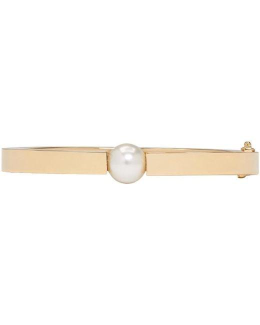 Chloé | Metallic Gold Darcey Pearl Bracelet | Lyst