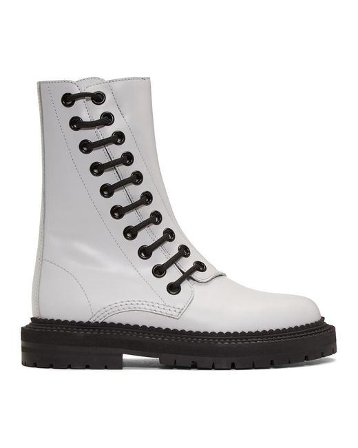 Burberry - White Florain Boots - Lyst