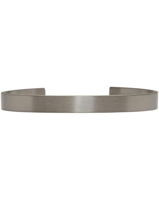 Le Gramme | Metallic Le 9 Grammes Matte Silver Horizontal Guilloche Cuff for Men | Lyst