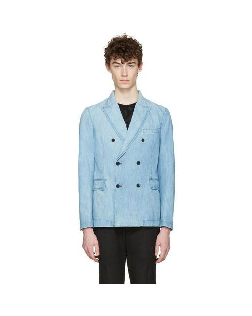 Valentino | Blue Denim Double-breasted Blazer for Men | Lyst