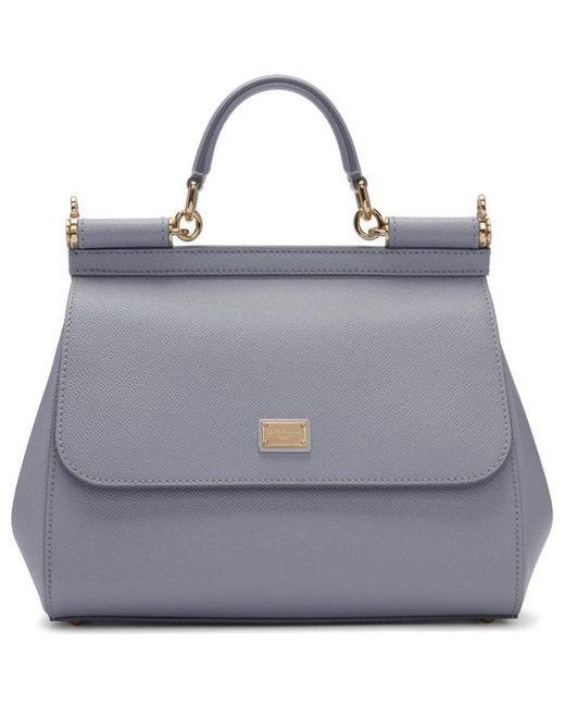 Dolce & Gabbana | Blue Medium Miss Sicily Bag | Lyst