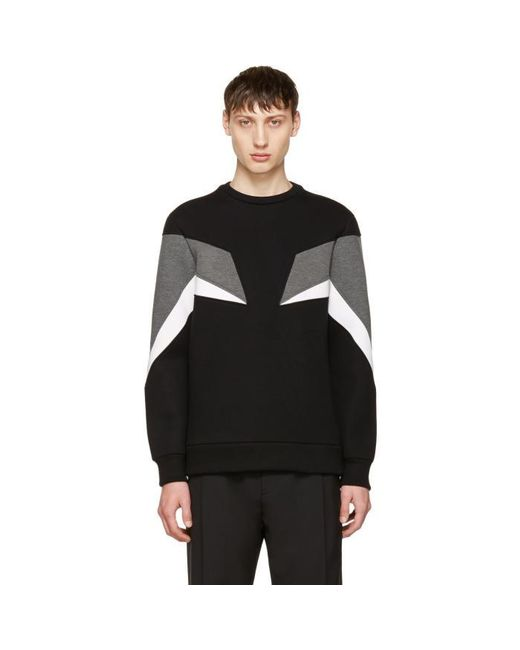 Neil Barrett | Black Tricolor Modernist Sweatshirt for Men | Lyst