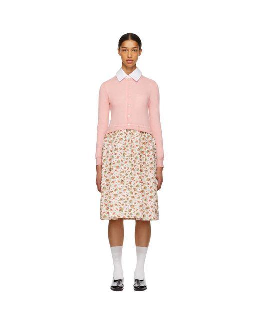 Comme des Garçons - Pink Combo Floral Dress - Lyst