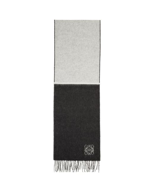Loewe - Multicolor Black And White Window Pane Anagram Scarf - Lyst