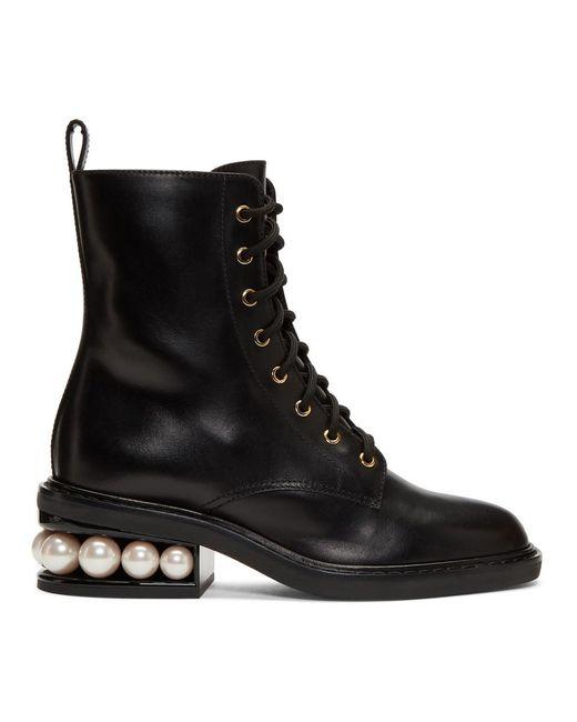 Nicholas Kirkwood - Black Casati 35 Faux Pearl Heel Boots - Lyst