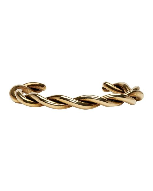 Lanvin - Metallic Brass Wrapped Metal Bracelet for Men - Lyst