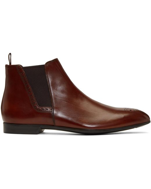 Prada | Brown Leather Chelsea Boots for Men | Lyst