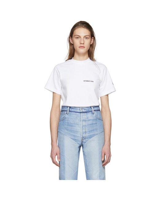 Vetements - White Calendar Open Back T-shirt - Lyst