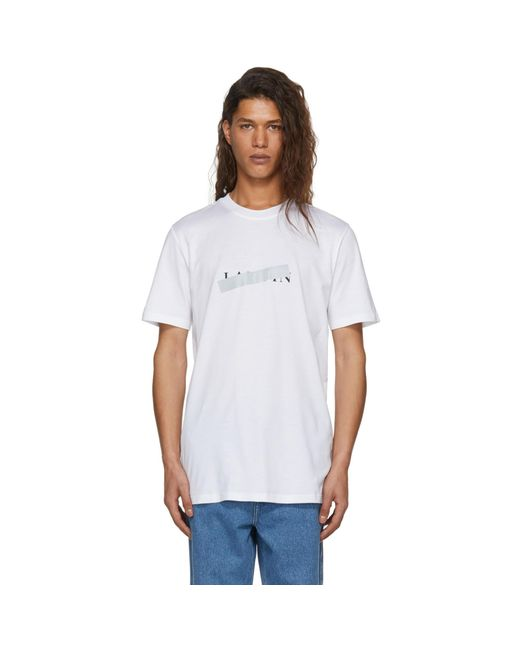 Lanvin   White Crossed Out Logo T-shirt   Lyst