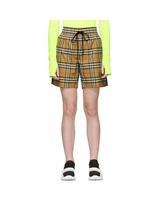 Burberry - Multicolor Check Shorts W  Side Bands - Lyst ... d184e8af78