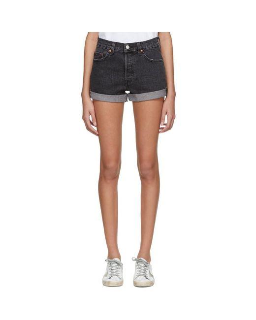 Levi's - Black 501 Denim Shorts - Lyst