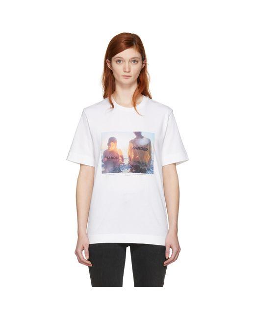 Jil Sander | Ssense Exclusive White Mario Sorrenti Edition 008 T-shirt | Lyst