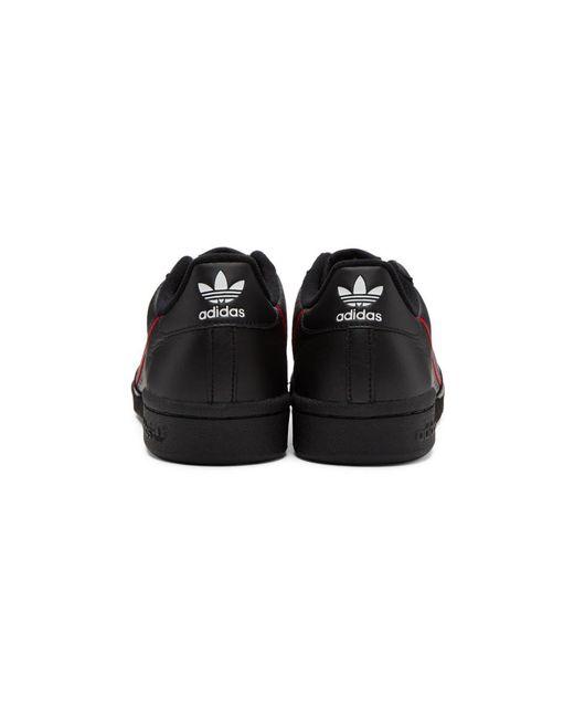 Lyst adidas originali continental nera 80 scarpe in nero per gli uomini.