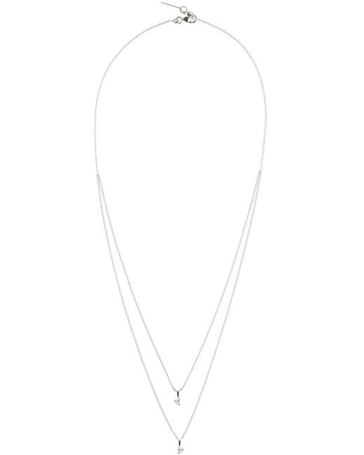 Maison Margiela | White Gold Crescent Diamond Solitaire Bisected Necklace | Lyst