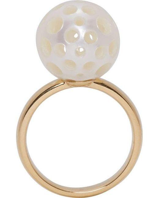 Melanie Georgacopoulos | Metallic Gold Drilled Pearl Tasaki Edition Ring | Lyst