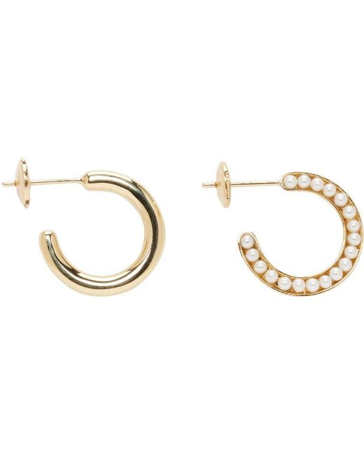 Melanie Georgacopoulos | Metallic Gold Essence Hoop Earrings | Lyst