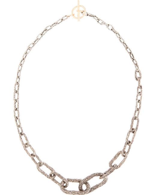 Pearls Before Swine   Metallic Silver & Gold Toggle Graded Necklace   Lyst