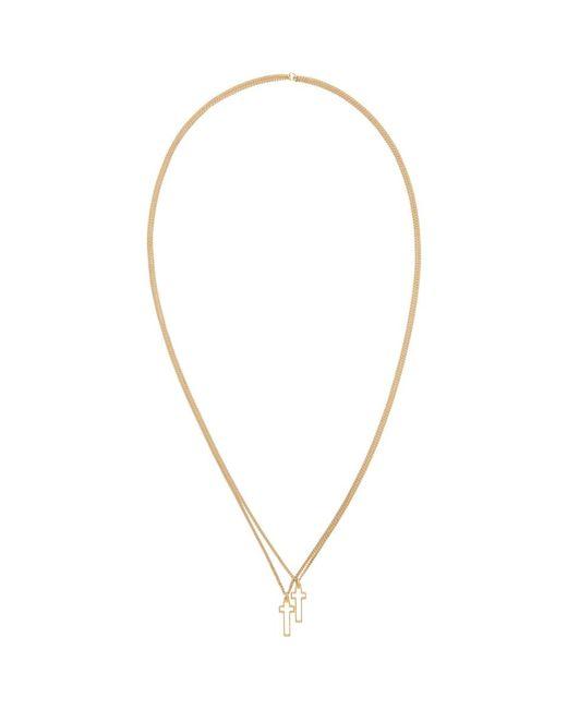 DSquared² - Metallic Gold Jesus Necklace for Men - Lyst