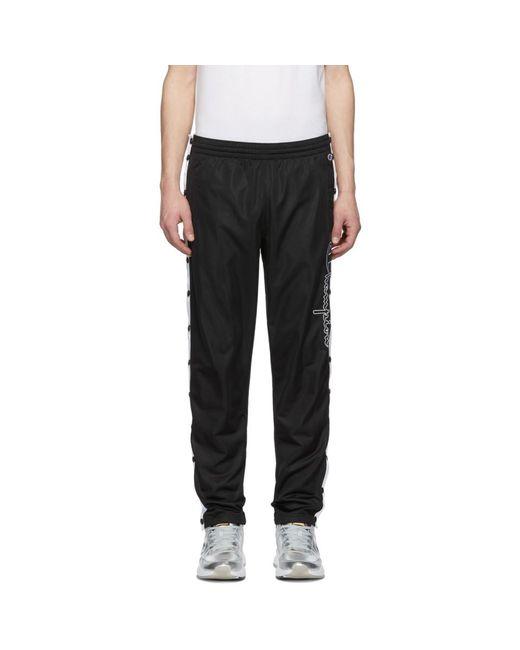Champion - Black ブラック スクリプト ロゴ トラック パンツ for Men - Lyst