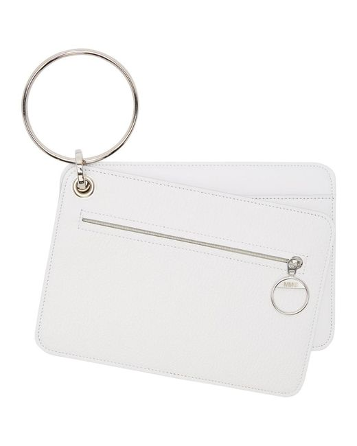 MM6 by Maison Martin Margiela - White Keyring Wallet Set - Lyst