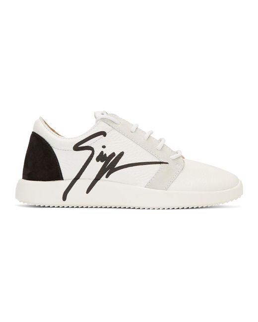 Giuseppe Zanotti - White Signature Sneakers - Lyst