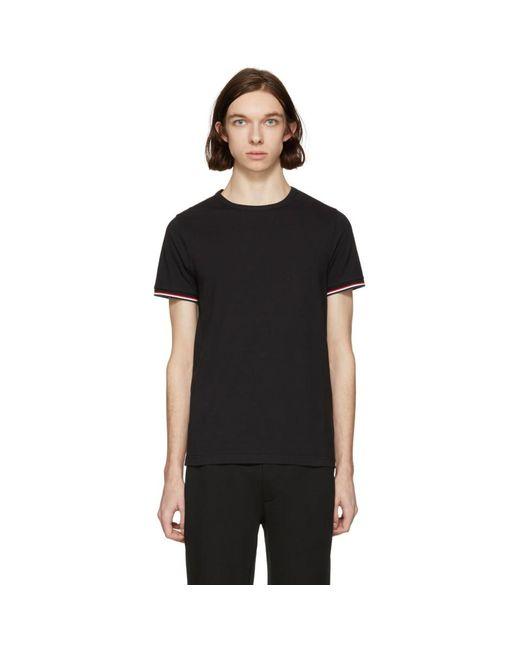 Moncler - Black Flag Sleeves T-shirt for Men - Lyst