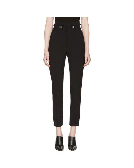 Proenza Schouler | Black Pencil Leg Trousers | Lyst